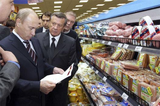 Путин в магазине